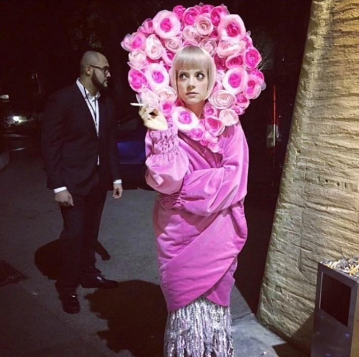 Lili Allen backstage