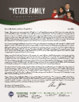 Chris Yetzer Prayer Letter: A Man Searches for God