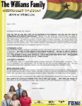 Lawrence Williams Prayer Letter:  Back in America