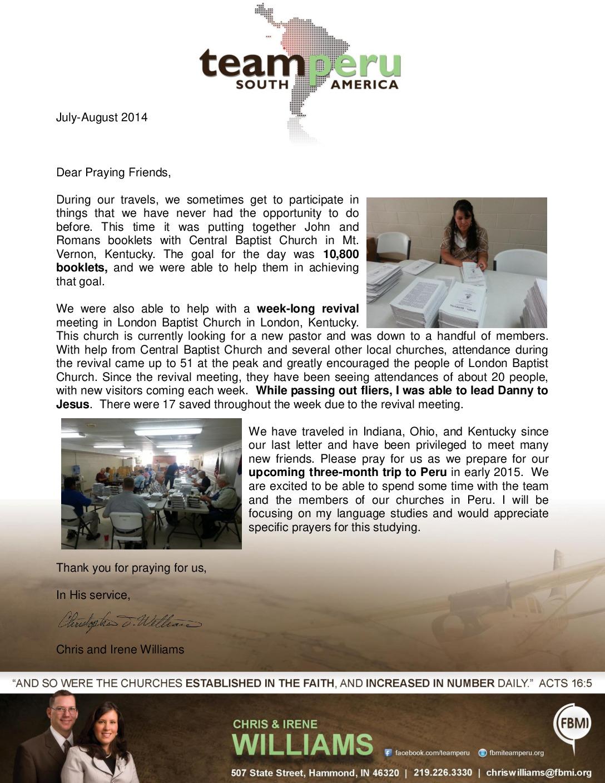 thumbnail of Chris Williams Jul-Aug 2014 Prayer Letter2