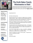 Keith Baker Prayer Letter:  New DVD of Our Work