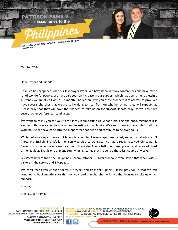 thumbnail of Chris Pattison October 2014 Prayer Letter