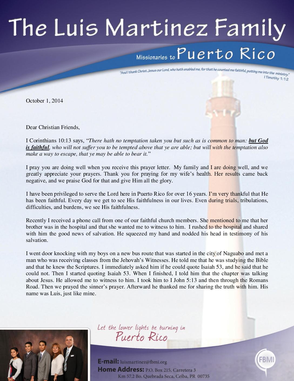 thumbnail of Luis Martinez October 2014 Prayer Letter