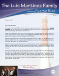 Luis Martinez Prayer Letter:  Privileged to Serve the Lord in Puerto Rico for 16 Years