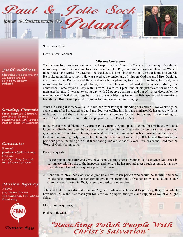 thumbnail of Paul Sock September 2014 Prayer Letter