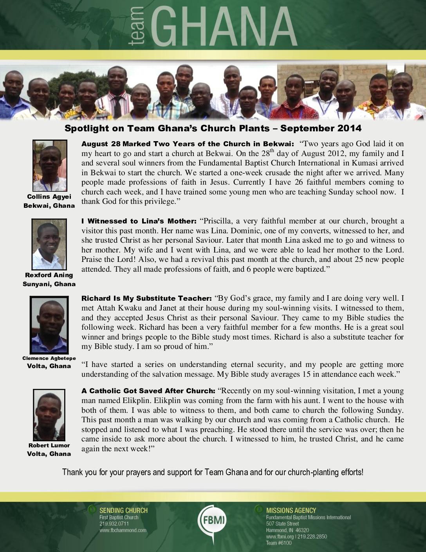 thumbnail of Team Ghana September 2014 National Pastor Update