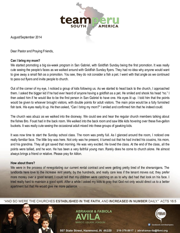 thumbnail of Abraham Avila Aug-Sep 2014 Prayer Letter