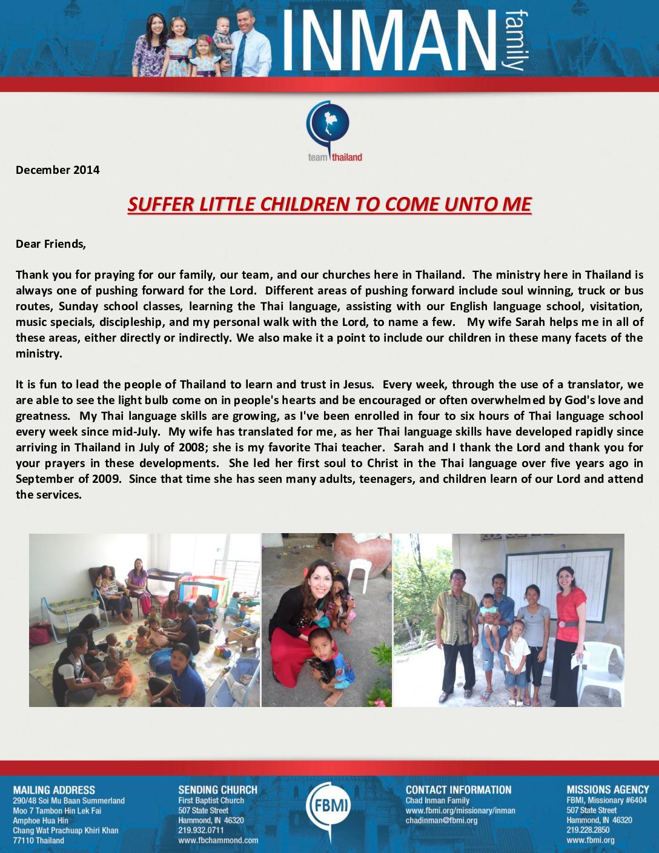 thumbnail of Chad Inman December 2014 Prayer Letter