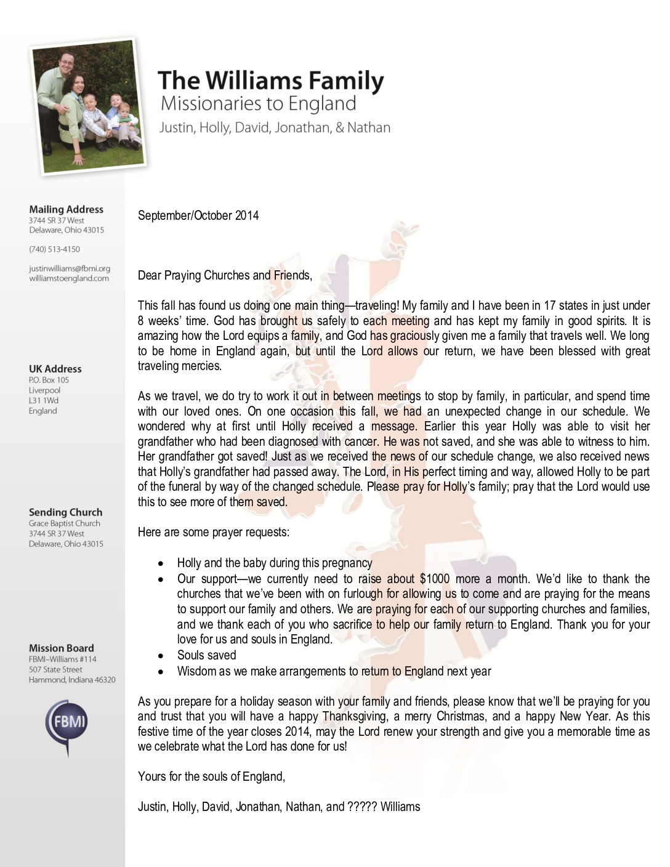 thumbnail of Justin Williams Sep-Oct 2014 Prayer Letter