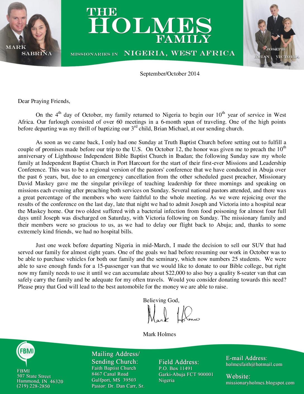 thumbnail of Mark Holmes Sep-Oct 2014 Prayer Letter
