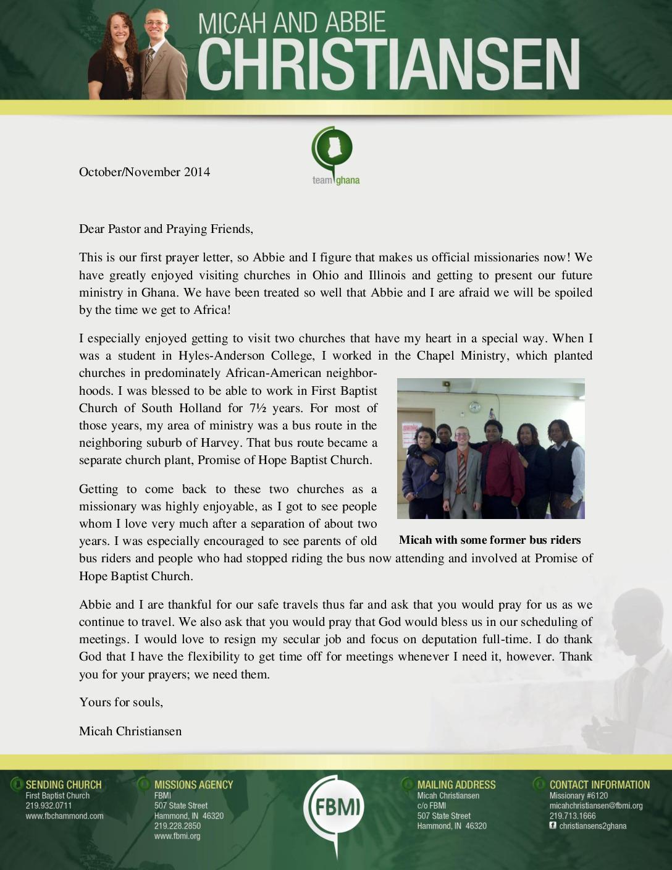 thumbnail of Micah Christiansen Oct-Nov 2014 Prayer Letter