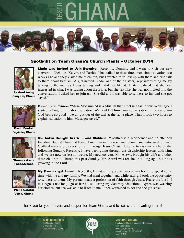 thumbnail of Team Ghana October 2014 National Pastor Update