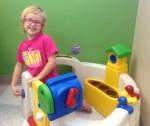 joy at pediatrician