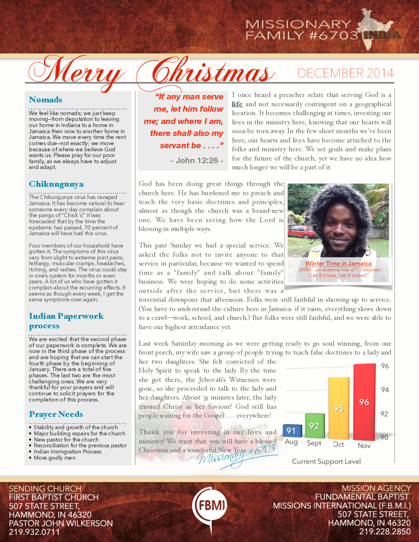 thumbnail of Missionary 6703 December 2014 Prayer Letter