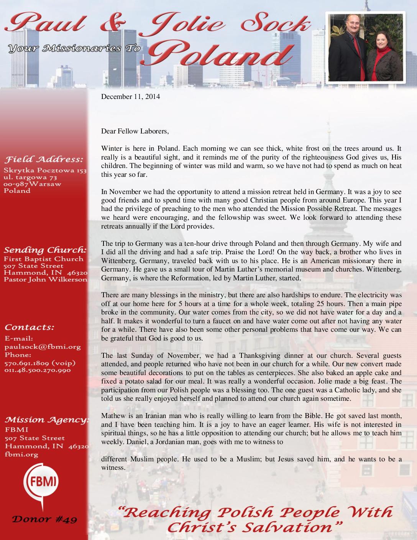 thumbnail of Paul Sock December 2014 Prayer Letter