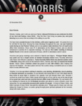 Peter Morris Prayer Letter:  A Year of Blessings and Tragedy