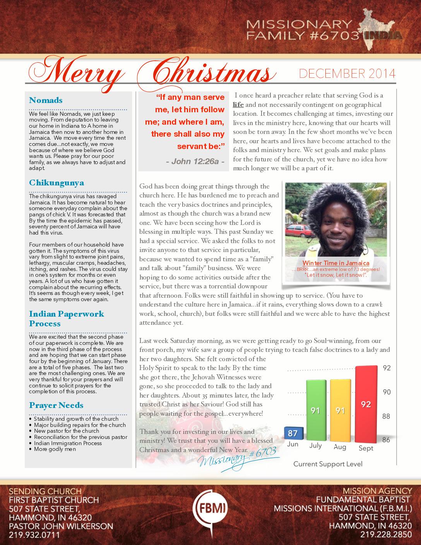 thumbnail of Prayer Letter – December 2014b