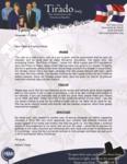 Robert Tirado Prayer Letter:  Sunday School Campaign