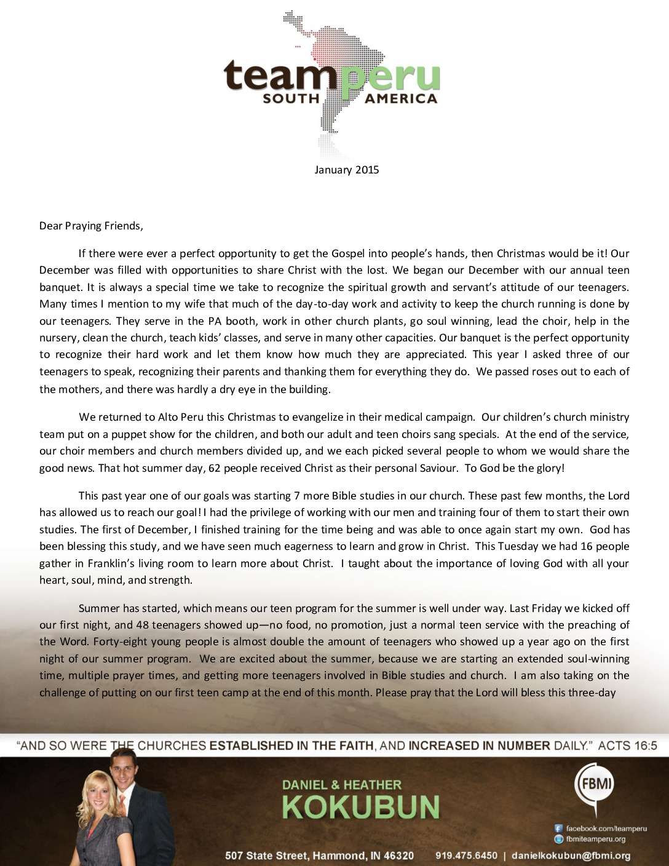 thumbnail of Daniel Kokubun January 2015 Prayer Letter