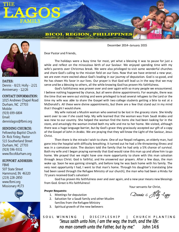 thumbnail of Dennis Lagos Dec 2014-Jan 2015 Prayer Letter