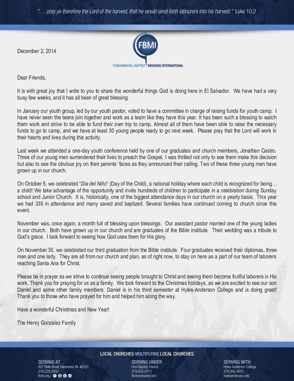 thumbnail of Henry Gonzalez December 2014 Prayer Letter
