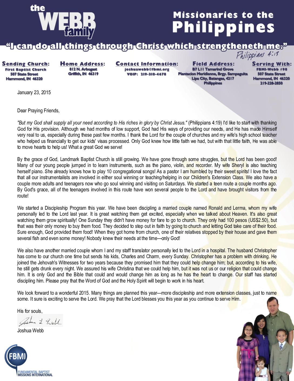 thumbnail of Joshua Webb January 2015 Prayer Letter