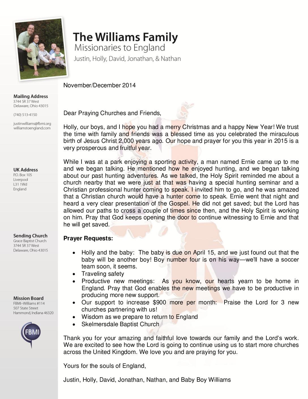 thumbnail of Justin Williams Nov-Dec 2014 Prayer Letter