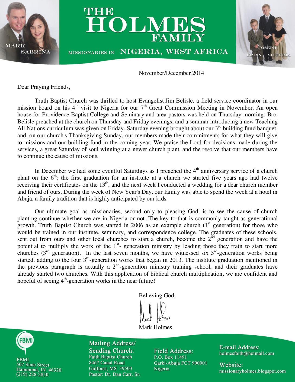 thumbnail of Mark Holmes Nov-Dec 2014 Prayer Letter