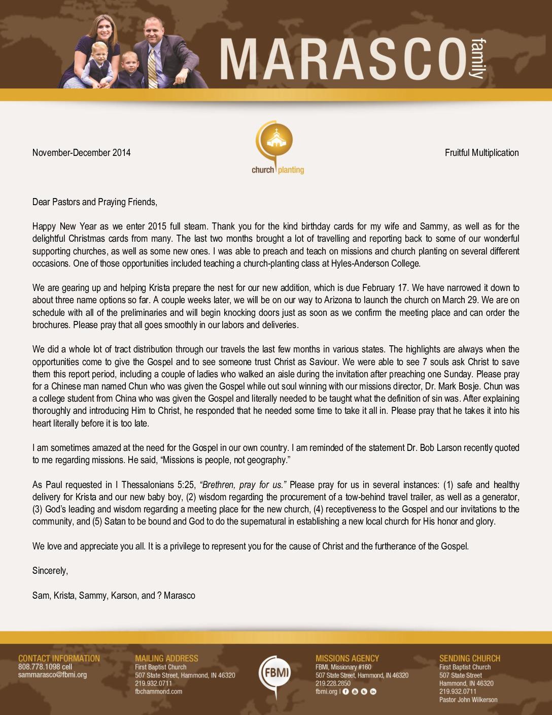 thumbnail of Sam Marasco Nov-Dec 2014 Prayer Letter