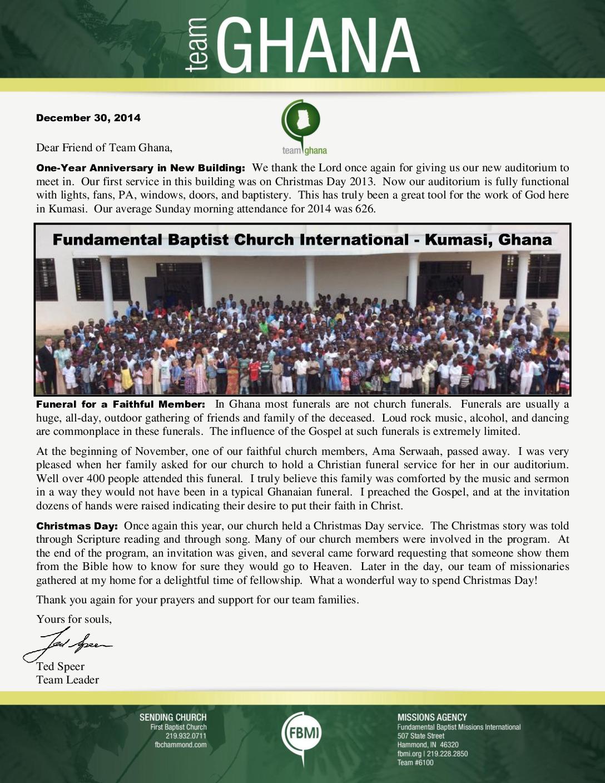 thumbnail of Team Ghana December 2014 Update