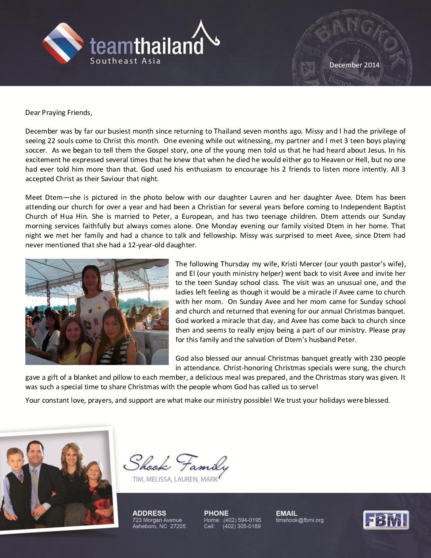 thumbnail of Tim Shook December 2014 Prayer Letter