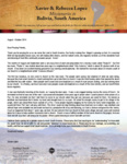 Xavier Lopez Prayer Letter:  Our New Bus Route