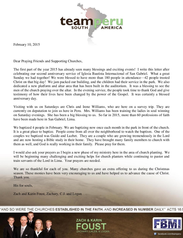 thumbnail of Zach Foust February 2015 Prayer Letter