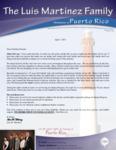 Luis Martinez Prayer Letter:  Spring Program