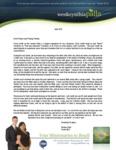 Wes Palla Prayer Letter:  New Area, Same God