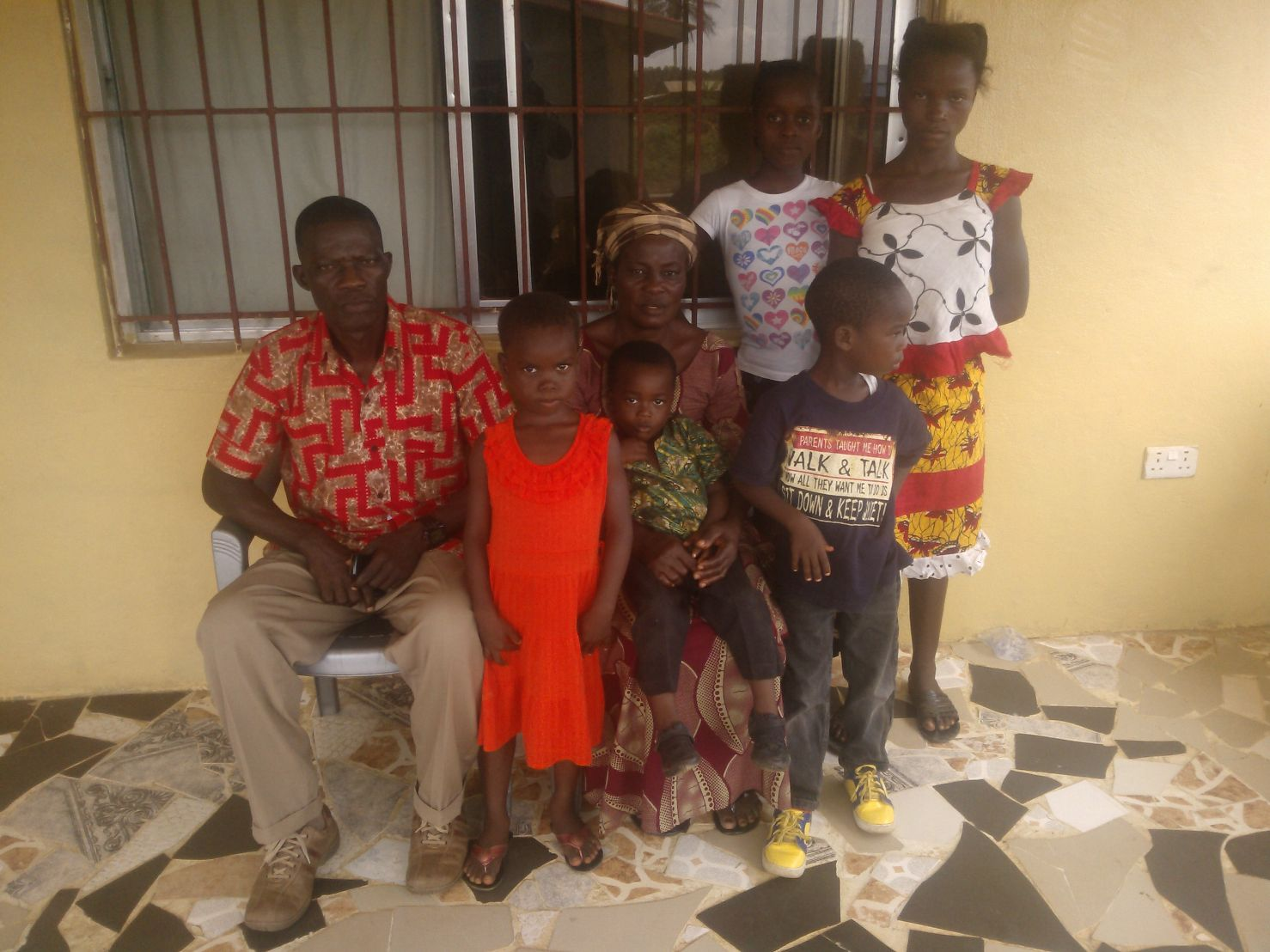 Family at Grand View Baptist Church in Monrovia, Liberia