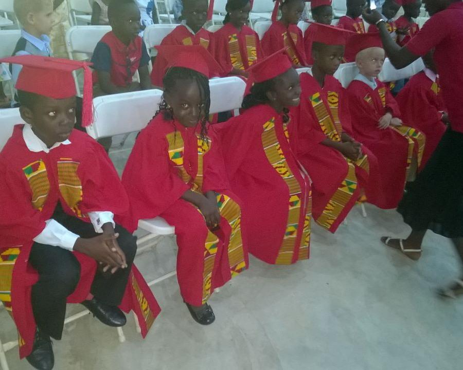 FBA Kindergarten Graduates Receiving Some Last Minute Instructions