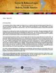 Xavier Lopez Prayer Letter:  A Refreshing Visit to the States
