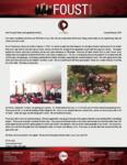 Zach Foust Prayer Letter: Third Anniversary Service