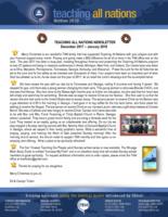 TAN Newsletter:  God's Blessings on the Year