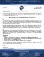 Parish Javier Prayer Letter:  Busy and Bustling