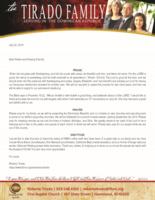 Roberto Tirado Prayer Letter:  Temporary Residency Renewed