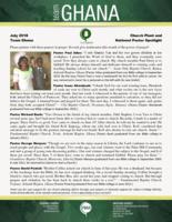 Team Ghana National Pastor Spotlight:  Answers to Prayer