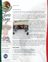 Christopher Sage Prayer Letter:  Successful New Church Plant!