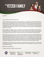 Christopher Yetzer Prayer Letter:  American Crunch