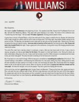 Chris Williams Prayer Letter:  Transformations