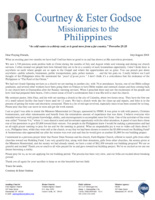 Courtney Godsoe Prayer Letter:  Our Dream Is Becoming a Reality!