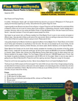 Fisa Mihy-mihyndu Prayer Letter:  God Is Opening Doors