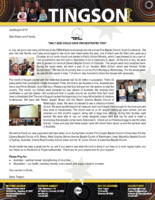 Garry Tingson Prayer Letter: Only God Could Have Orchestrated This!
