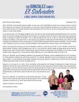 Henry Gonzalez Prayer Letter:  Winding Down and Picking Up Speed